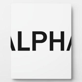 Alpha (BLACK) Plaque