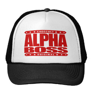 ALPHA BOSS - Persistence Leads to Success, Red Cap
