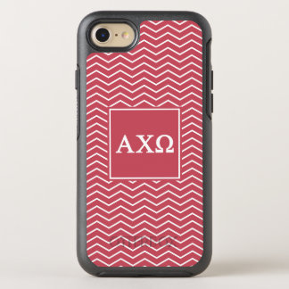 Alpha Chi Omega | Chevron Pattern OtterBox Symmetry iPhone 8/7 Case