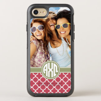 Alpha Chi Omega | Monogram and Photo OtterBox Symmetry iPhone 8/7 Case