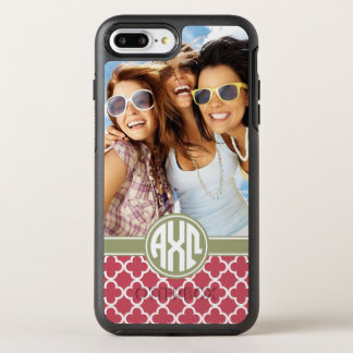 Alpha Chi Omega   Monogram and Photo OtterBox Symmetry iPhone 8 Plus/7 Plus Case