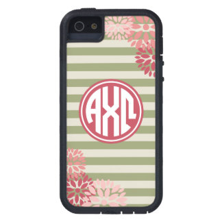Alpha Chi Omega | Monogram Stripe Pattern Cover For iPhone 5