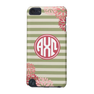 Alpha Chi Omega | Monogram Stripe Pattern iPod Touch 5G Cover