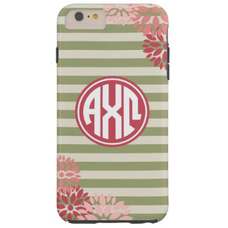 Alpha Chi Omega | Monogram Stripe Pattern Tough iPhone 6 Plus Case
