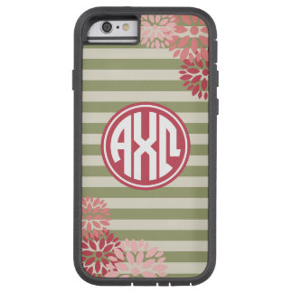 Alpha Chi Omega   Monogram Stripe Pattern Tough Xtreme iPhone 6 Case
