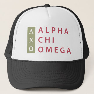 Alpha Chi Omega | Stacked Logo Trucker Hat