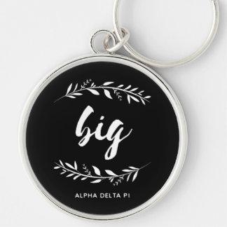Alpha Delta Pi | Big Wreath Key Ring