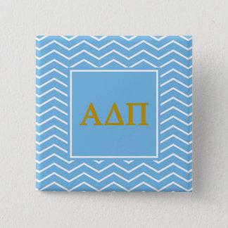Alpha Delta Pi | Chevron Pattern 15 Cm Square Badge