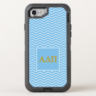 Alpha Delta Pi | Chevron Pattern OtterBox Defender iPhone 8/7 Case