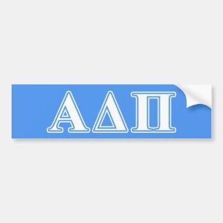 Alpha Delta Pi Dark Blue and White Letters Bumper Sticker