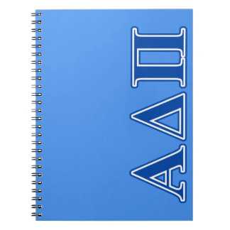 Alpha Delta Pi Dark Blue Letters Notebook