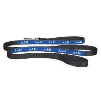 Alpha Delta Pi Light Blue and White Letters Pet Leash