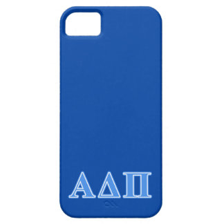 Alpha Delta Pi Light Blue Letters iPhone 5 Cover