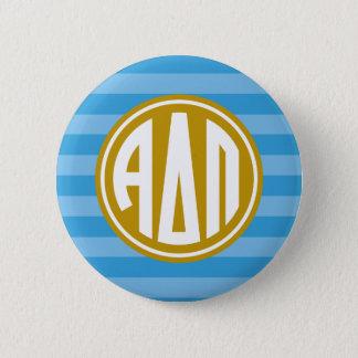 Alpha Delta Pi | Monogram Stripe Pattern 6 Cm Round Badge