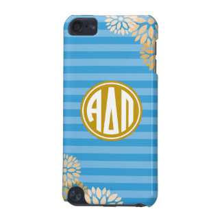 Alpha Delta Pi | Monogram Stripe Pattern iPod Touch (5th Generation) Covers