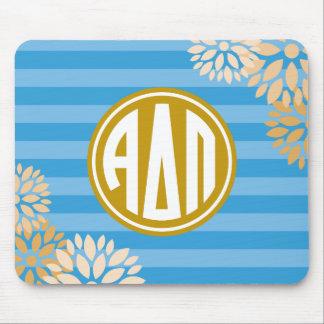 Alpha Delta Pi | Monogram Stripe Pattern Mouse Pad