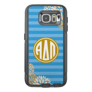 Alpha Delta Pi   Monogram Stripe Pattern OtterBox Samsung Galaxy S6 Case