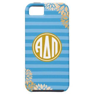 Alpha Delta Pi | Monogram Stripe Pattern Tough iPhone 5 Case