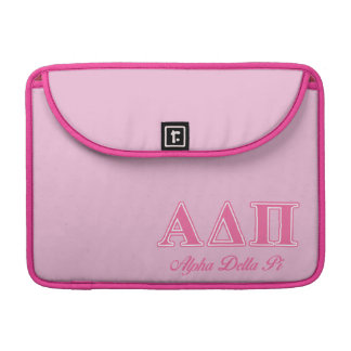 Alpha Delta Pi Pink Letters Sleeve For MacBook Pro