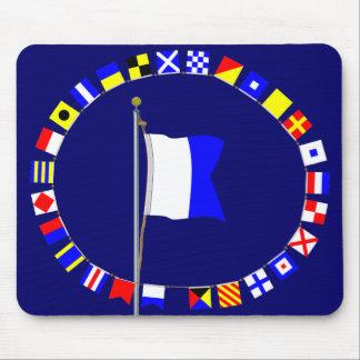 "Alpha ""Diver Down"" Nautical Signal Flag Mouse Pad"
