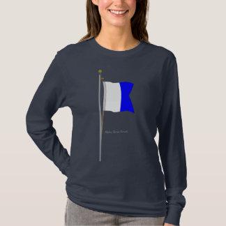 """Alpha """"Diver Down"""" Nautical Signal Flag T-Shirt"""