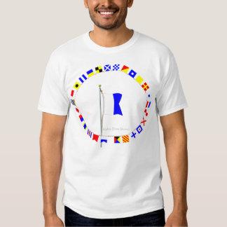 """Alpha """"Diver Down"""" Nautical Signal Flag T Shirts"""
