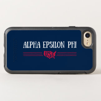 Alpha Epsilon Phi - USA OtterBox Symmetry iPhone 8/7 Case