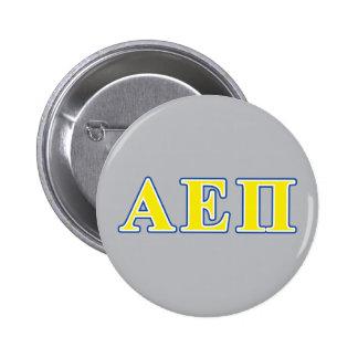 Alpha Epsilon Pi Blue and Yellow Letters 6 Cm Round Badge