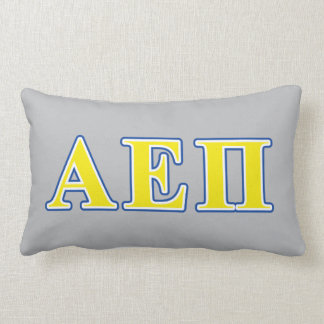 Alpha Epsilon Pi Blue and Yellow Letters Lumbar Cushion