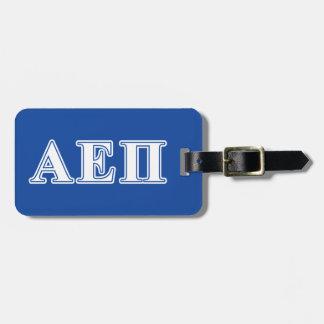 Alpha Epsilon Pi White and Blue Letters Luggage Tag