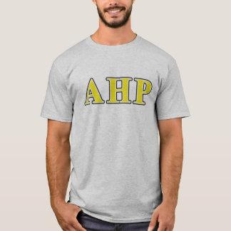 Alpha Eta Rho Black and Yellow Letters T-Shirt