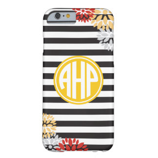 Alpha Eta Rho | Monogram Stripe Pattern Barely There iPhone 6 Case