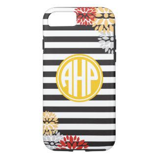 Alpha Eta Rho   Monogram Stripe Pattern iPhone 7 Case