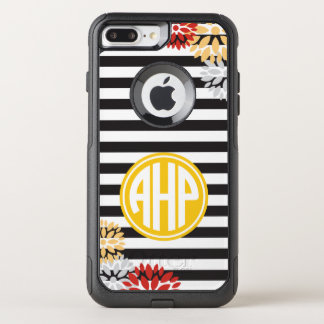 Alpha Eta Rho | Monogram Stripe Pattern OtterBox Commuter iPhone 8 Plus/7 Plus Case