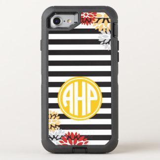 Alpha Eta Rho | Monogram Stripe Pattern OtterBox Defender iPhone 8/7 Case