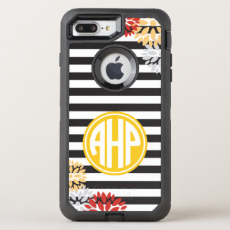 Alpha Eta Rho | Monogram Stripe Pattern OtterBox Defender iPhone 8 Plus/7 Plus Case