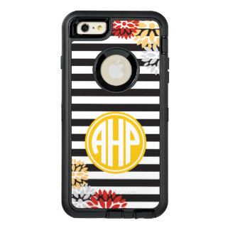 Alpha Eta Rho | Monogram Stripe Pattern OtterBox Defender iPhone Case