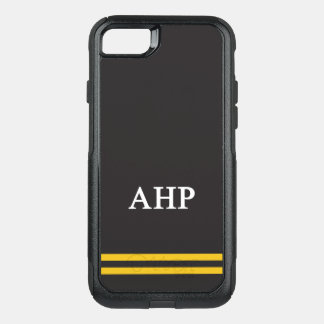 Alpha Eta Rho | Sport Stripe OtterBox Commuter iPhone 8/7 Case