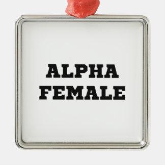 Alpha Female Metal Ornament