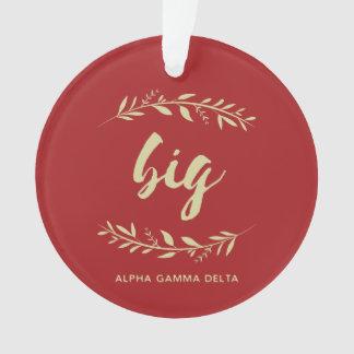 Alpha Gamma Delta Big Wreath Ornament