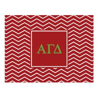 Alpha Gamma Delta   Chevron Pattern Postcard