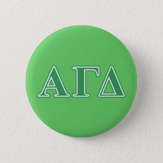 Alpha Gamma Delta Green Letters 6 Cm Round Badge