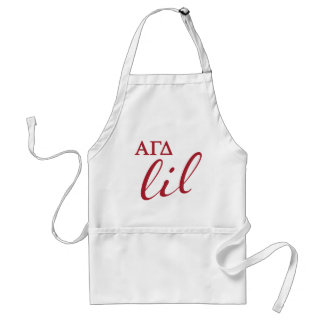 Alpha Gamma Delta Lil Script Standard Apron