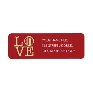 Alpha Gamma Delta Love Return Address Label