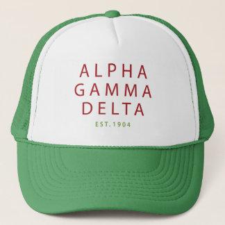 Alpha Gamma Delta Modern Type Trucker Hat