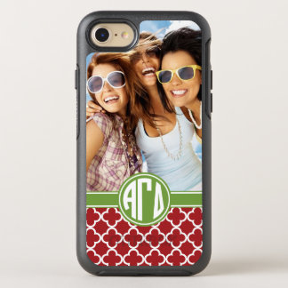 Alpha Gamma Delta | Monogram and Photo OtterBox Symmetry iPhone 8/7 Case