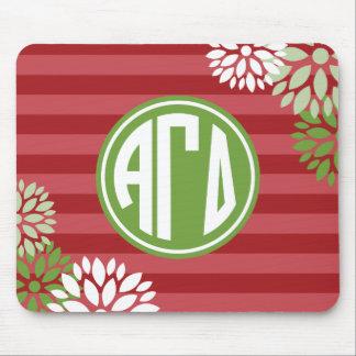 Alpha Gamma Delta   Monogram Stripe Pattern Mouse Pad