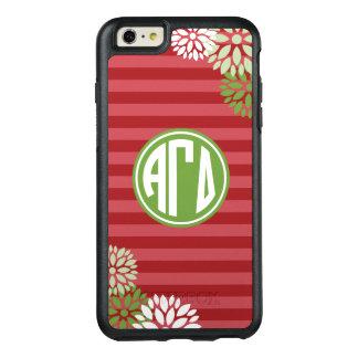Alpha Gamma Delta   Monogram Stripe Pattern OtterBox iPhone 6/6s Plus Case