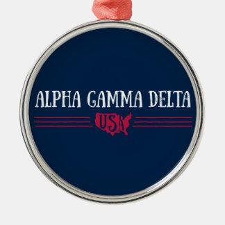 Alpha Gamma Delta USA Metal Ornament