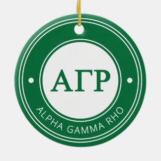 Alpha Gamma Rho | Badge Ceramic Ornament